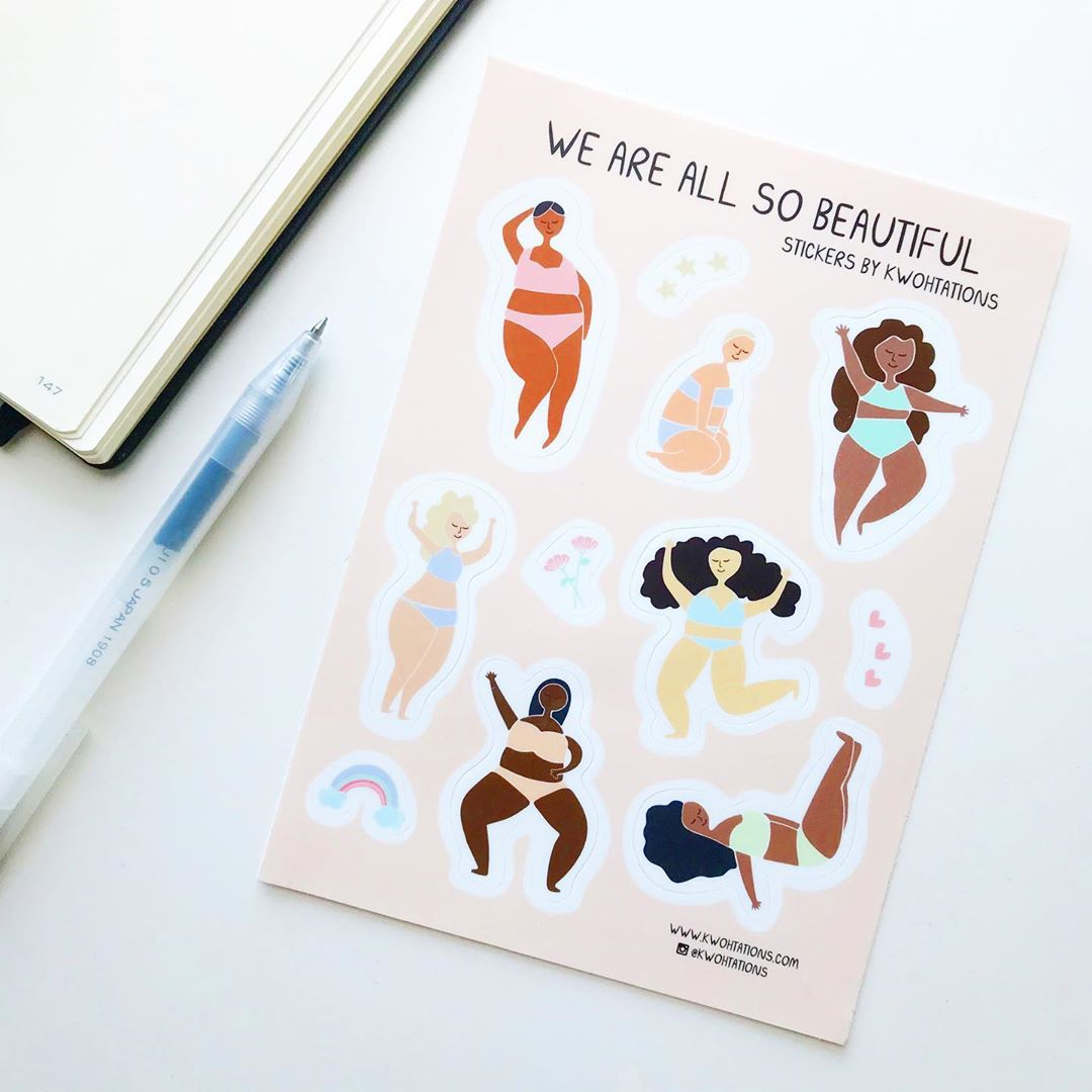 We Are So Beautiful Sticker Sheet by Kwohtations