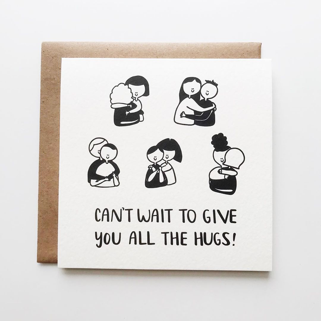 Can't Wait to Give You All the Hugs Letterpress Card by Kwohtations