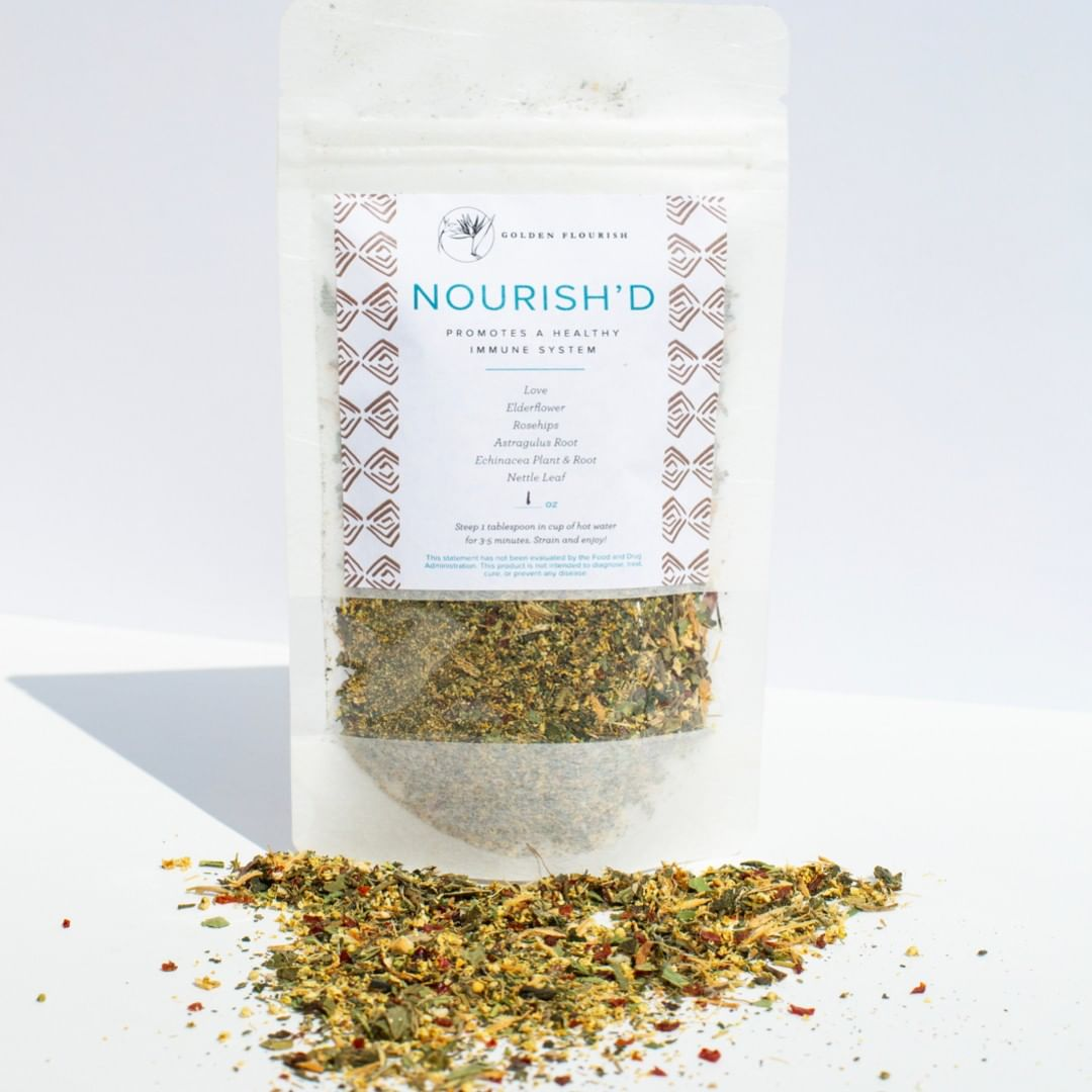 Nourish'd Immune Boost Herbal Tea Blend by Golden Flourish