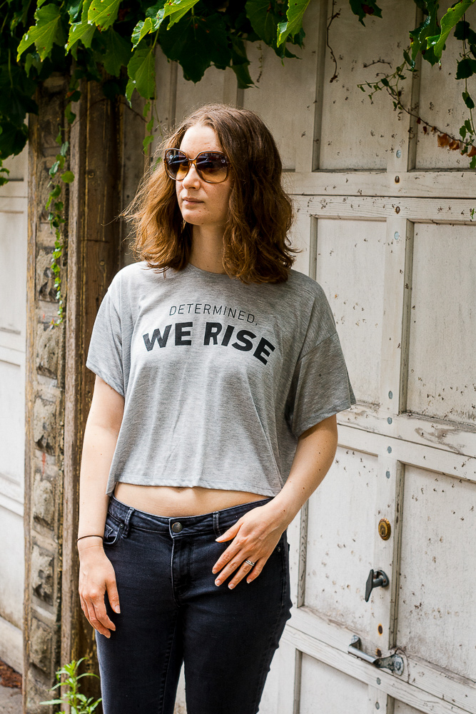 Determined We Rise Crop Tee by Dough