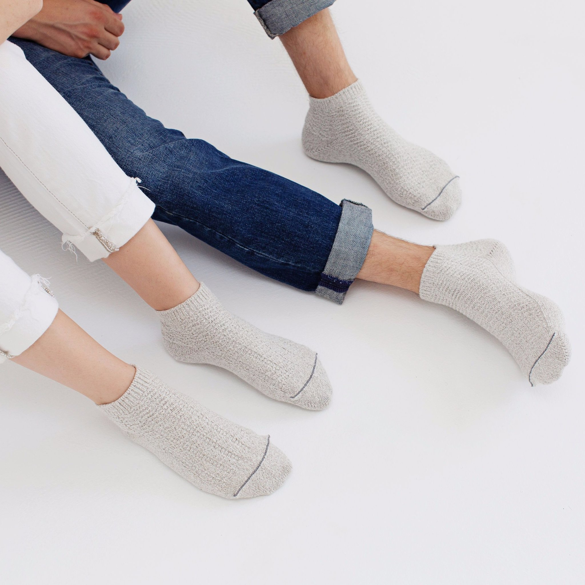 Soft Antibacterial Everyday Footie Socks by Silver Spun Goods