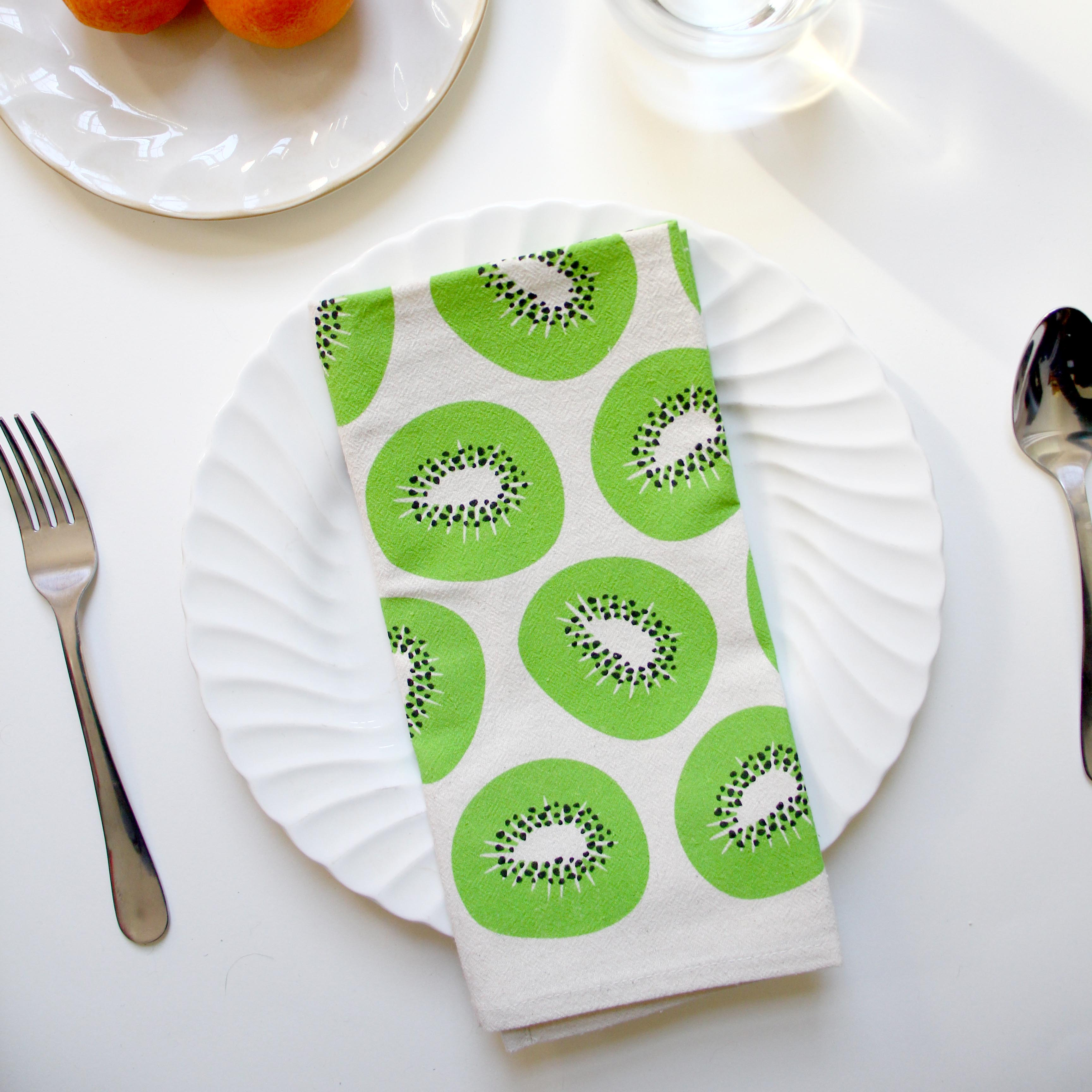 Kiwi Tea Towel by Freckled Fuchsia