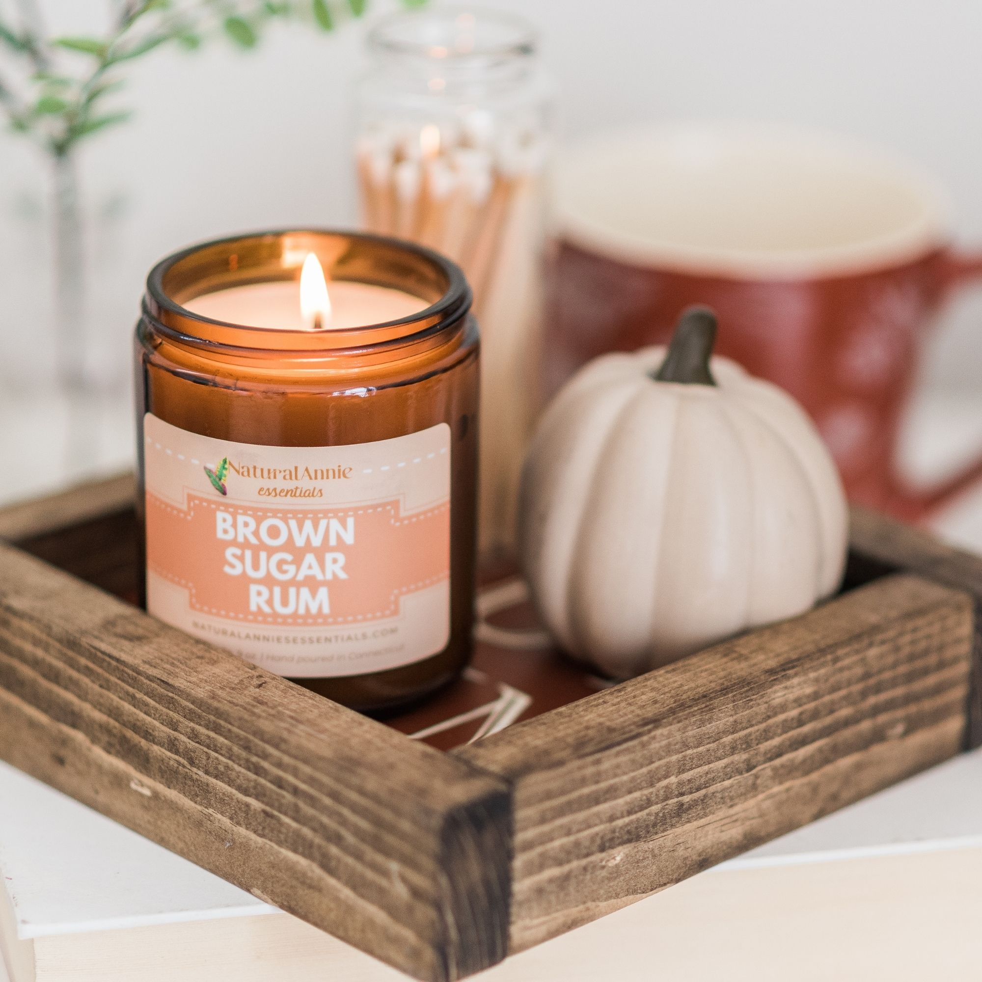 Brown Sugar Rum Soy Candle by NaturalAnnie Essentials