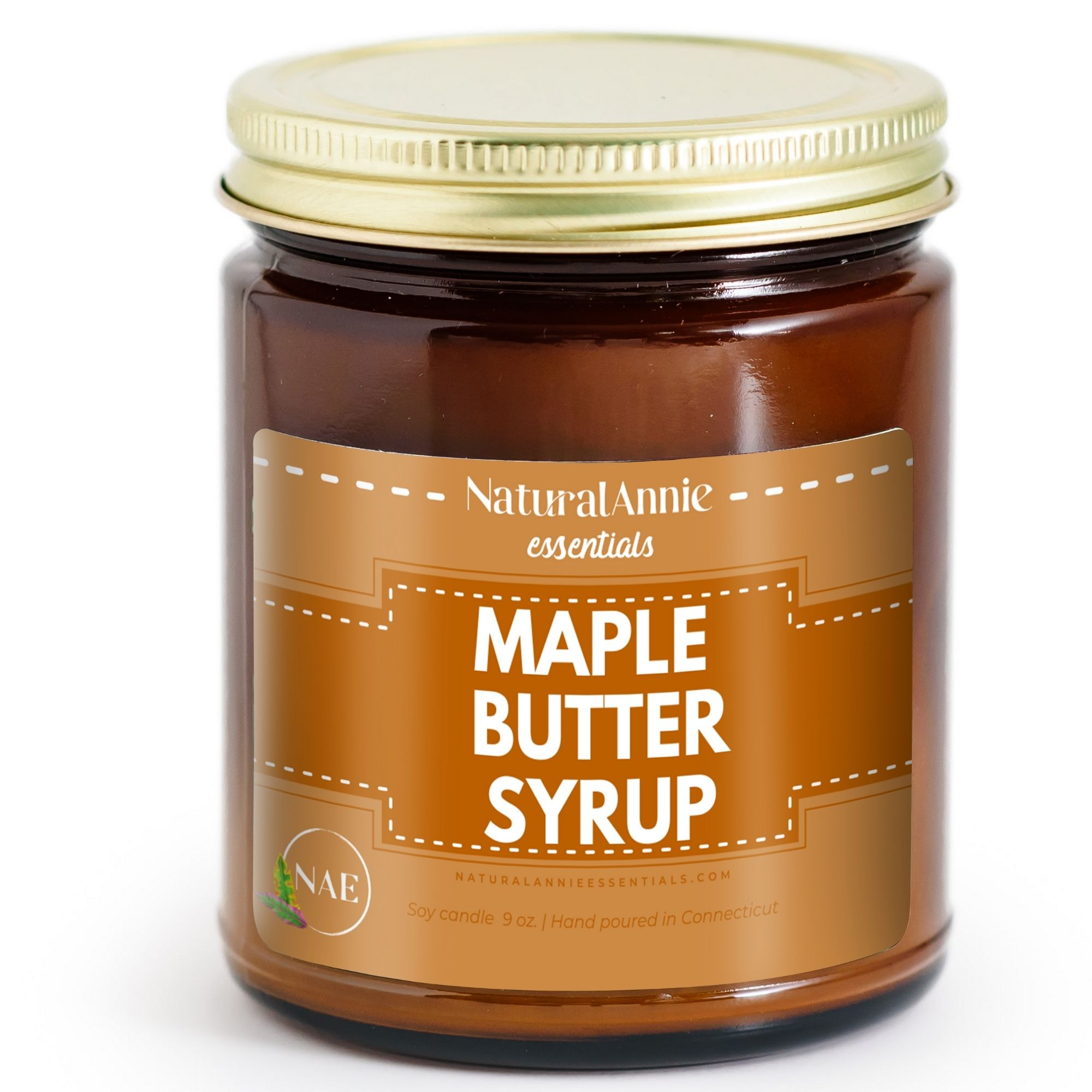 Maple Butter Syrup Scented Soy Candle by NaturalAnnie Essentials