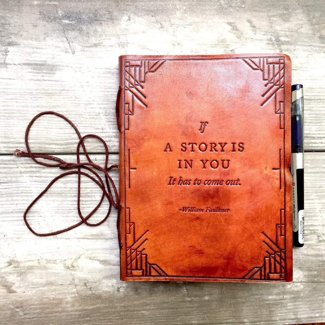 If A Story Is In You Handmade Leather Journal by Soothi