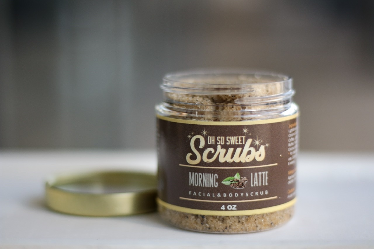Morning Latte Facial and Body Sugar Scrub by Oh So Sweet Scrubs