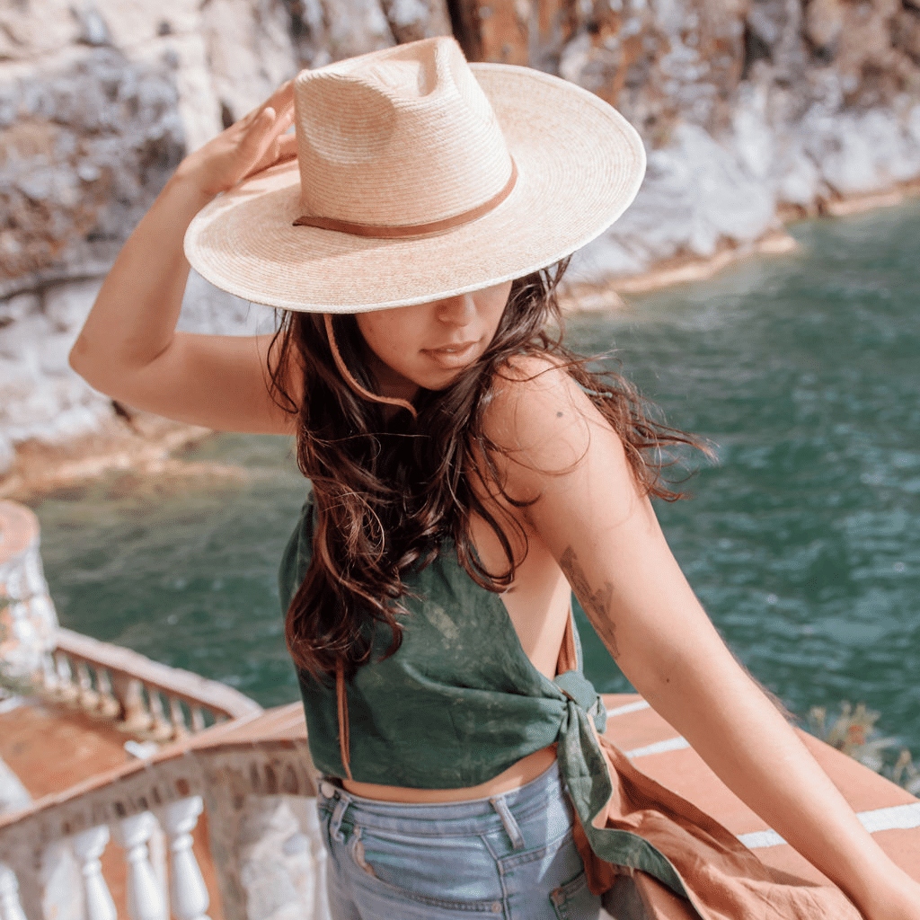 Palm Wide Indiana Straw Hat  by Woven Futures