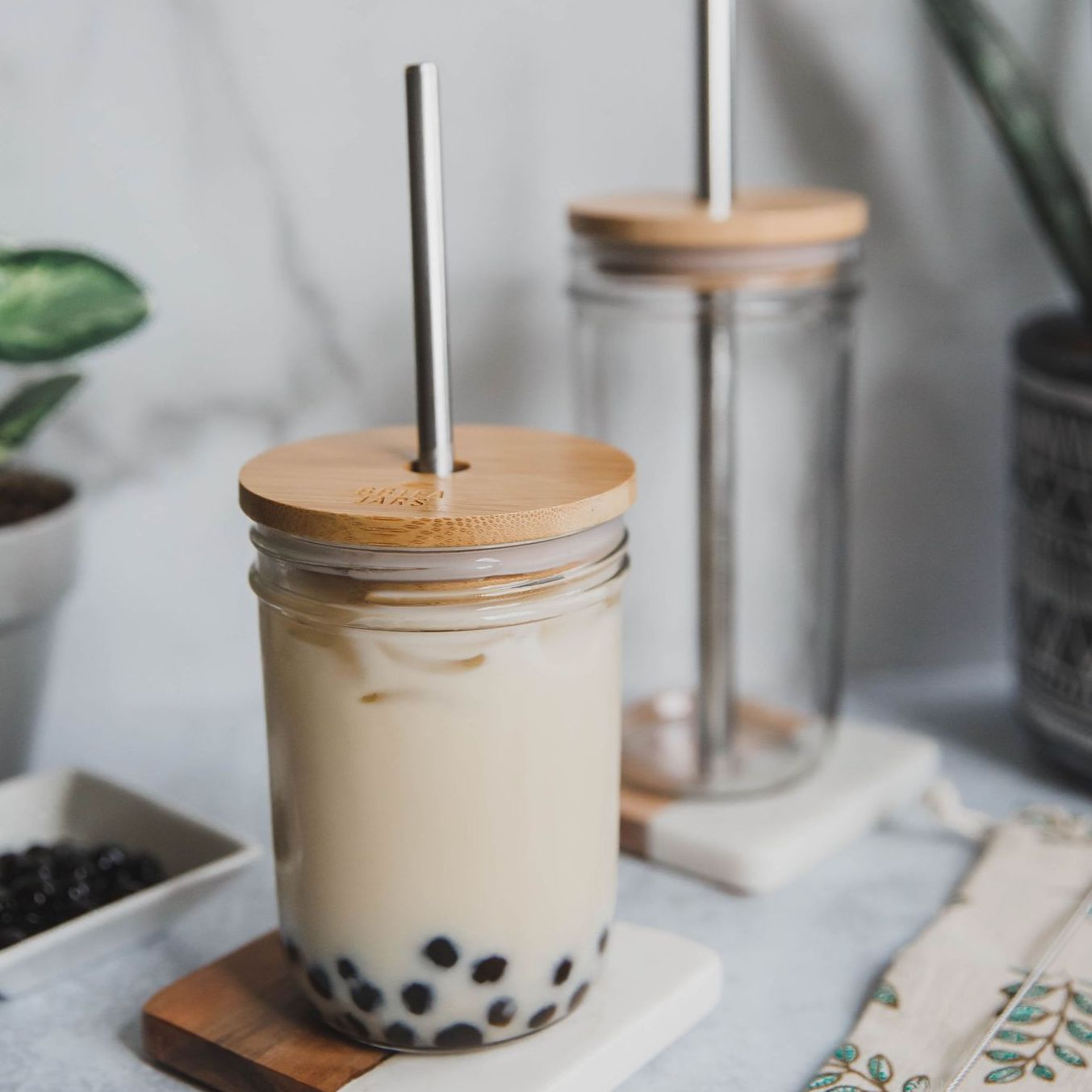 Boba, Bubble Tea Glass Jar by BBTEA JARS